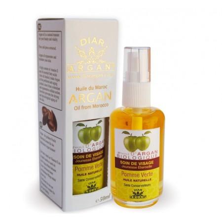 Натуральное косметическое омолаживающее масло арганы с зеленым яблоком