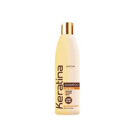 Кератиновый укрепляющий шампунь для всех типов волос KERATINA