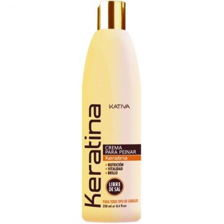 Кератиновый укрепляющий крем для укладки для всех типов волос KERATINA
