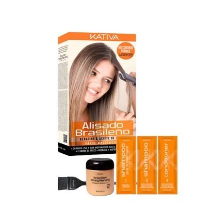 Набор для кератинового выпрямления и восстановления волос с маслом Арганы