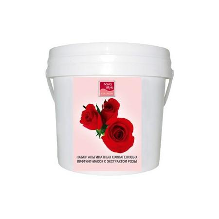 Альгинатная коллагеновая маска с экстрактом Розы