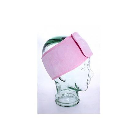 Повязка для волос бархатная розовая
