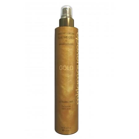Золотой спрей-лосьон для ультра-блеска волос